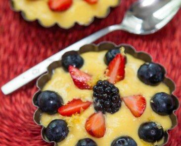 Lemony Passion Fruit Pie-min